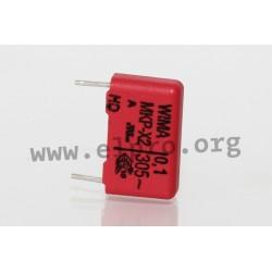 MKX2AW41005I00KSSD, Wima MKP EMI/RFI suppression capacitors, class X2, MKP-X2 series