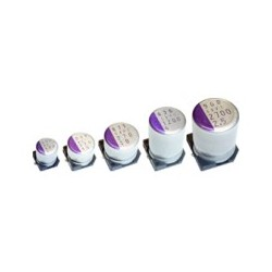 16SVPC150M, Panasonic electrolytic capacitors, SMD, 105°C, polymer aluminium, OS-CON, SVPC series
