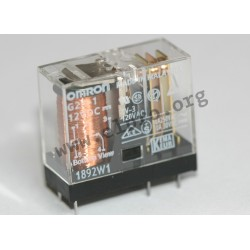 G2R1AE5VDC, Omron PCB relays, 5 to 16A, 1 normally open contact or 1 or 2 changeover contacts, G2R series