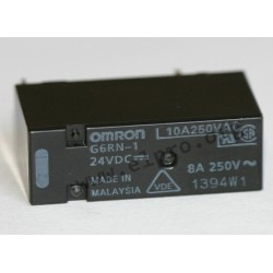 G6RN-15DC, Omron PCB relays, 8A, 1 changeover contact, G6RN series