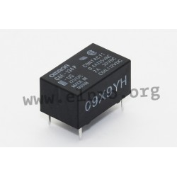 G6E-134P-US-12VDC, Omron PCB relays, 3A, 1 changeover contact, low signal, G6E series