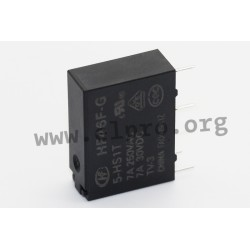 HF46F-G/12-HS1T, Hongfa PCB relays, 10A, 1 normally open contact, HF46F-G series