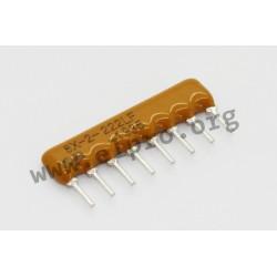 4608X-102-221LF, Bourns resistor networks, 8 pins/4 resistors, 4600X series