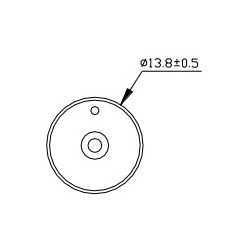 PK-12N40PEDRQ, Hitpoint piezo DC buzzers, with LED, for PCB mounting, PK series