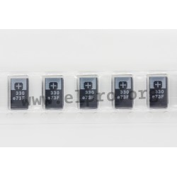 10TPF150ML, Panasonic polymer tantalum capacitors, SMD, Poscap, TPF series