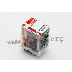 R4N-2014-23-1012-WTL, Relpol industrial relays, 7A, 4 changeover contacts, R4N series