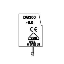 DG300-5.0-02P-24-1000AH, Degson terminal blocks, pitch 10mm, 24A, DG300-5.0 series