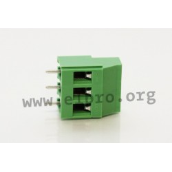 DG130-5.0-03P-14-00AH, Degson terminal blocks, pitch 5mm, 20A, screw-cage clamp principle, DG130-5.0 series