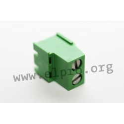 DG500-5.0-02P-14-00AH, Degson terminal blocks, pitch 5mm, 18A, screw-cage clamp principle, DG500-5.0 series