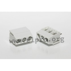 DG126-5.0-03P-14-19AH, Degson terminal blocks, pitch 5mm, 18A, screw principle, DG126-5.0 series