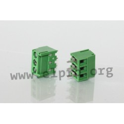 DG381-3.5-03P-14-00AH, Degson terminal blocks, pitch 3,5mm, 10A, screw-cage clamp principle, DG381-3.5 series