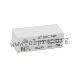 S7100C24W, NF Forward PCB relays, 10A, 1 changeover or 1 normally open contact, S series