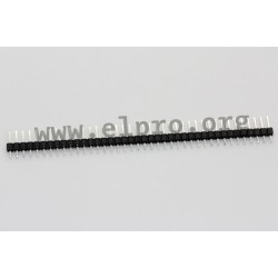 087-1-040-0-T-XS0, MPE Garry pin headers, single-row, straight, pitch 2,54mm, 087 series