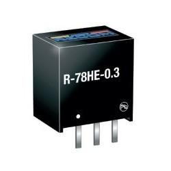 R-78HE5.0-0.3, Recom DC/DC switching regulators, 0,3A, SIL3 housing, R-78HE-0.3 series