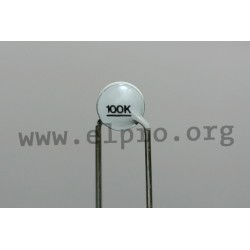 B57164K0334K000, TDK NTC thermistors, pitch 5mm, 10, K 164 series