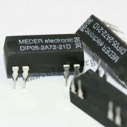 DIP24-2A72-21D, Standex Meder reed relays, DIL housing, 2 normally open contacts, DIP series