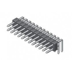 088-2-072-0-T-XS0-1000, MPE Garry pin headers, double-row, angled, pitch 2,54mm, 088 series