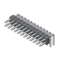 088-2-080-0-T-XS0-1000, MPE Garry pin headers, double-row, angled, pitch 2,54mm, 088 series