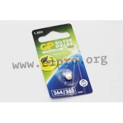 040UP364C1, GP Batteries silver-oxide button cells, 1,55V, GP3 series