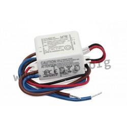 SLT6-350ISCUN, Self LED drivers, 6W, IP66, CV and CC (mixed mode), SLT6-ISC-UN series