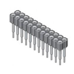 006-2-006-D-B1STF-XSO, MPE Garry SIL precision sockets, pitch 2,54mm, 006 series