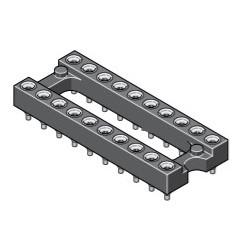 015-1-016-3-H5STF-LTO, MPE Garry IC precision sockets, pitch 2,54mm, 015 series