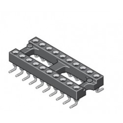015-2-028-3-H5STF-LTO, MPE Garry IC precision sockets, pitch 2,54mm, 015 series