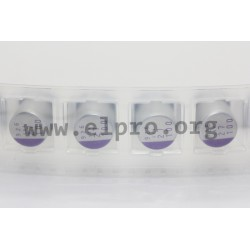100SXV6R8M, Panasonic electrolytic capacitors, SMD, 125°C, polymer aluminium, OS-CON, SXV series