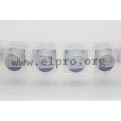 100SXV15MX, Panasonic electrolytic capacitors, SMD, 125°C, polymer aluminium, OS-CON, SXV series