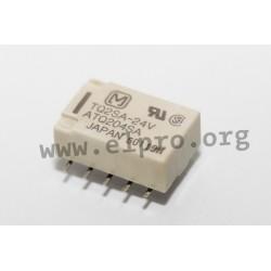 TQ2SA-24V, Panasonic PCB relays, 2A, 2 changeover contacts, TQ series