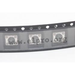 DTSM-62K-V-T/R, Diptronics tact switches, SMD, 6x6mm, DTSM6 series