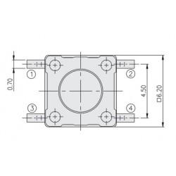 DTSM-63K-V-T/R, Diptronics tact switches, SMD, 6x6mm, DTSM6 series