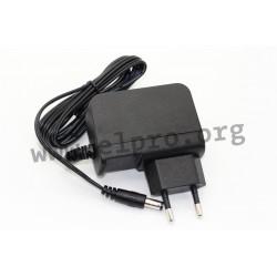 EA1019KHES(T01), EDACPOWER plug-in switching power supplies, 24W, energy efficiency Level VI, EA1019 series