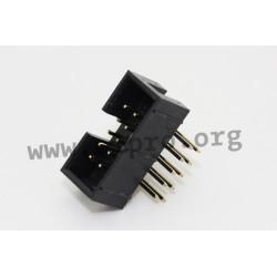 3210-10RGOCBKOOA01, Jin Ling box headers, pitch 2,54mm, angled, 3210 series