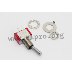 T8013-SECQ-E-H, Salecom toggle switches, 5A, for Ø6,86mm cutout, T80-T series