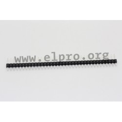 087-1-036-0-T-XS0, MPE Garry pin headers, single-row, straight, pitch 2,54mm, 087 series