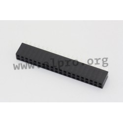 094-2-020-0-NSX-YS0, MPE Garry socket strips, pitch 2,54mm, double row, 094 series
