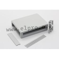 CM36/GREY, Elbag DIN rail enclosures, removable front panel, CM series