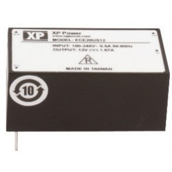 ECE20US12, XP Power switching power supplies, 20W, PCB, ECE20 series
