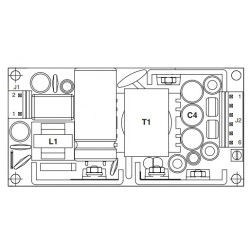 ECM40UT31, XP Power switching power supplies, 40W, for medical technology, open frame PCB, ECM40 series