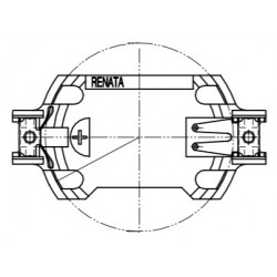 SMTU2450N-LF, Renata button cell holders, horizontal and vertical, for THT and SMT