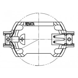 SMTU2477N-LF.TR, Renata button cell holders, horizontal and vertical, for THT and SMT