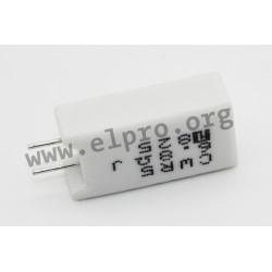 CWR2 22R J, Fukushima Futaba wire resistors, 5%, 2 to 5W, CWR series
