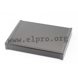 1455R2201BK, Hammond diecast extruded aluminium enclosures, with aluminium end panels, 1455 series