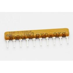 4610X-101-222LF, Bourns resistor networks, 10 pins/9 resistors, 4600X series