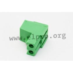 CPF5/2, Stelvio Kontek terminal multiconnectors, pitch 5mm, 20A, 320V, screw-cage clamp principle, CPF5 series