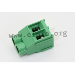 DG636-6.35-02P-14-00AH, Degson terminal blocks, pitch 6,35mm, 24A, 450V, screw-cage clamp principle, DG636-6.35 series
