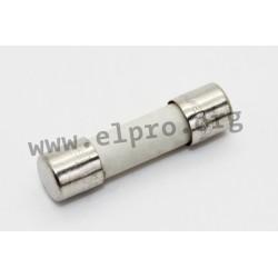 0001.2501, Schurter fuse links, 5x20mm, time lag, 250V, SPT 5x20 series