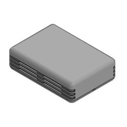 PP121G-S, Supertronic plastic enclosures, ABS, PP series
