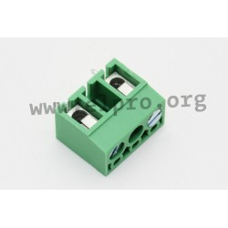 DG300-5.0-02P-24-1000AH, Degson terminal blocks, pitch 10mm, 24A, DG300-5.0 series